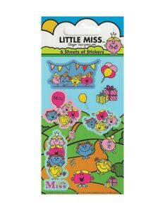 Party Favour//Loot Bag Filler Little Miss Sunshine Fun Foiled Sticker Sheet
