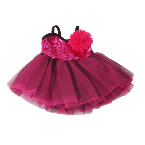 Doll Slip Dress Skirt Flower Hairpin for 18/'/'AG American Doll Dolls Rosy Purple