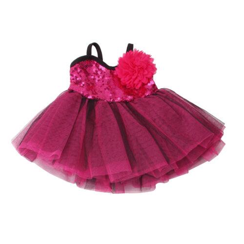 Doll Slip Dress Skirt Flower Hairpin for 18/'/'AG American Doll Dolls Rosy Purple
