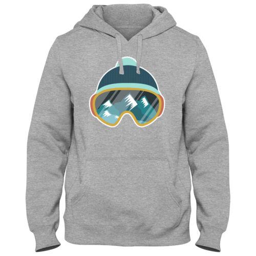 Hoody Hoodie Kapuzenpulli Ski Snowboard Skifahren Wintersport Skibrille DTG