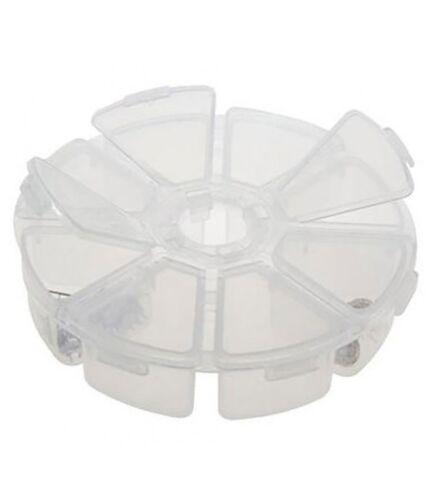 Coffrets et boites boite de rangement plastique ronde 8 compartiments