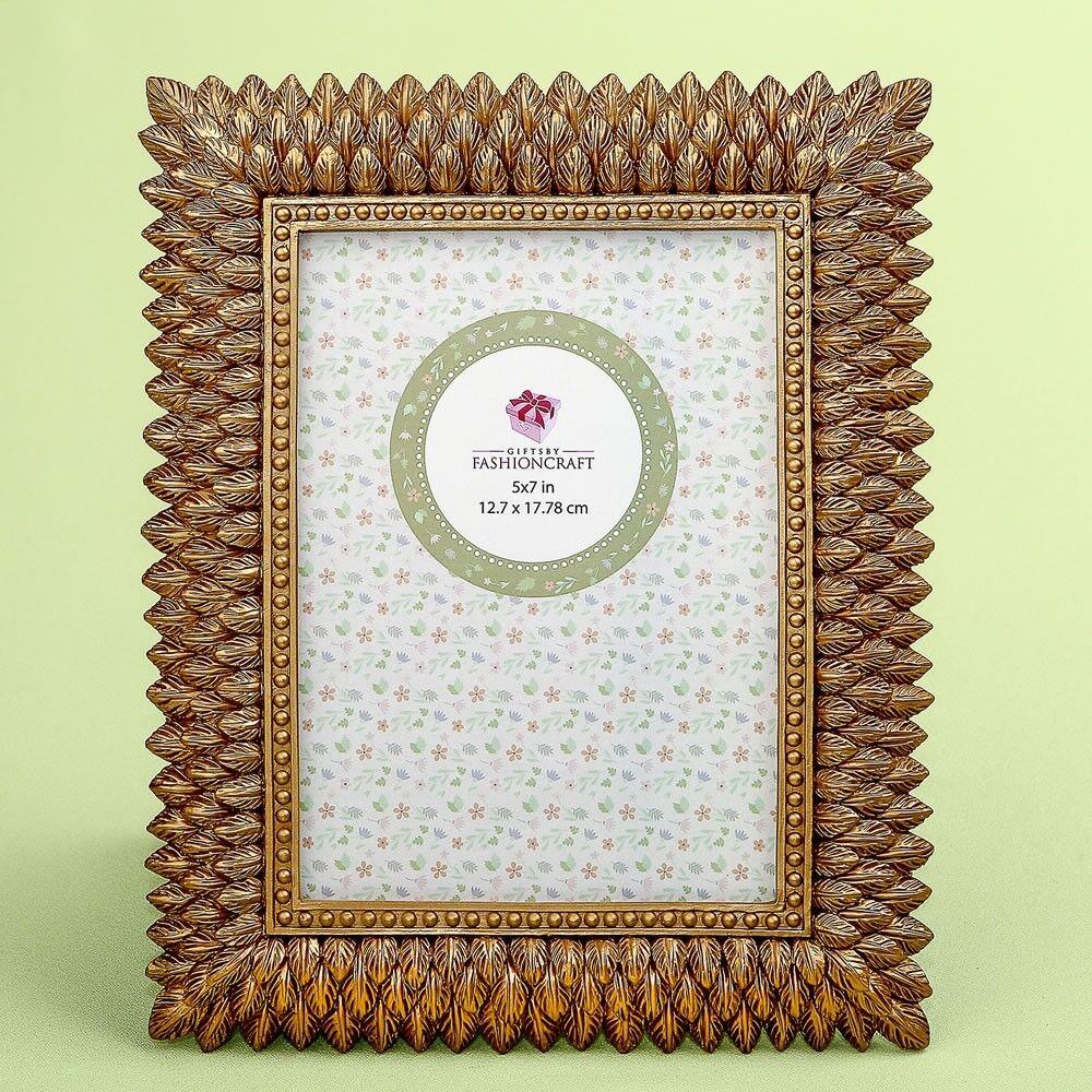 12 or brossé leaf Wedding Bridal Shower table de fête décor soleil