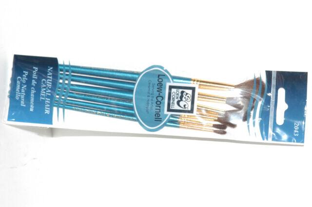 Loew-Cornell 2023S Natural Hair Bristle Brush Set 3-Pack