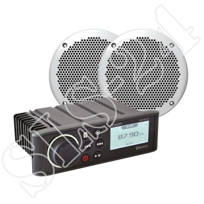 Fusion MS-RA70KT Bundle Bundle Bundle Marine MS-RA70 Radio + MS-EL602 Lautsprecher Boxen weiss 653a4a