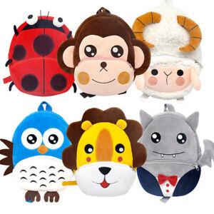 Cute Baby Kids Cartoon Animal School Plush Bag Travel Snacks Bag Backpack Gifts