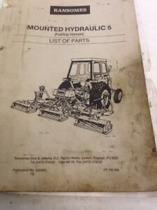 ransomes hydraulic 5 gang mower folding mower parts book manual ebay rh ebay co uk ransomes gang mower spare parts Ransomes Mower PTO Clutches
