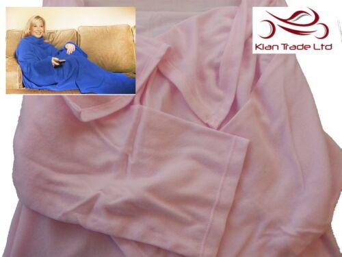 Cuddle blanket manches poche en polaire douce doudou cadeau de noël canapé noël-rose