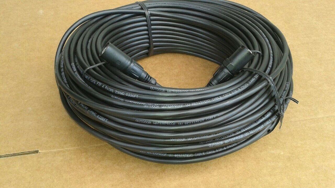 300FT  PRO CAT6 Tactical Shielded w Neutrik Ethercon RJ45 Digital Audio Cable
