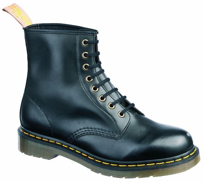 Grandes zapatos con descuento Dr Martens Doc 8 agujeros 1460 BLACK vegetariano 14045001 EL ORIGINAL