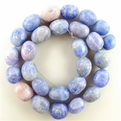 """Details about  /1 Strand 16x12mm Beautiful Blue Lace Chalcedony Column Loose Bead 15/"""" HCTZ65"""