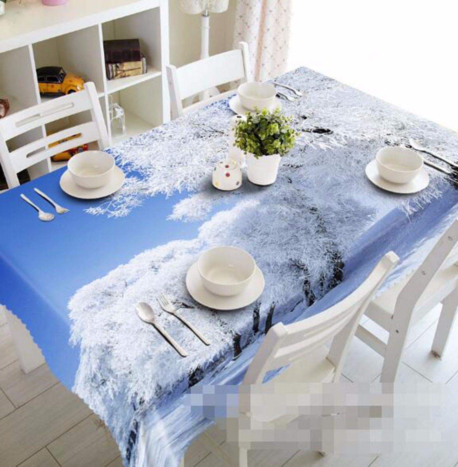 3D Trees 407 Tablecloth Table Cover Cloth Birthday Birthday Birthday Party AJ WALLPAPER UK Lemon bbdc2d