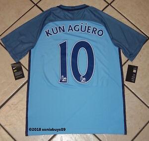 7e8edb2f Nike Men's KUN AGUERO Manchester City Soccer Jersey, 776907-489 ...