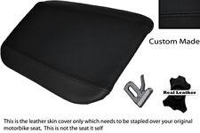 Negro Stitch Custom encaja Cagiva Mito 125 95-07 Trasera de piel cubierta de asiento