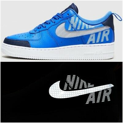 Nouveau UK Taille 12 Homme Nike Air Force 1 Baskets utilitaire Racer Blue Obsidian Chaussures   eBay