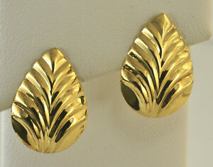 Details About 14kt Yellow Gold Earrings