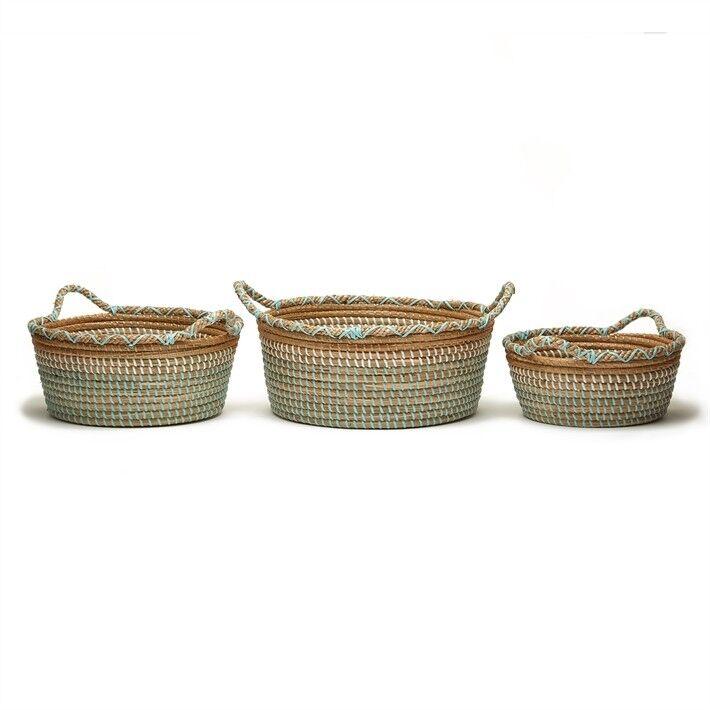 Tozai Home Phuket Set of 3 Seagrass Baskets