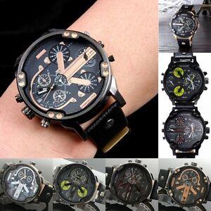 Men-Fashion-Date-DADDY-Quartz-Wristwatches-Casual-Leather-Analog-Digital-Watch