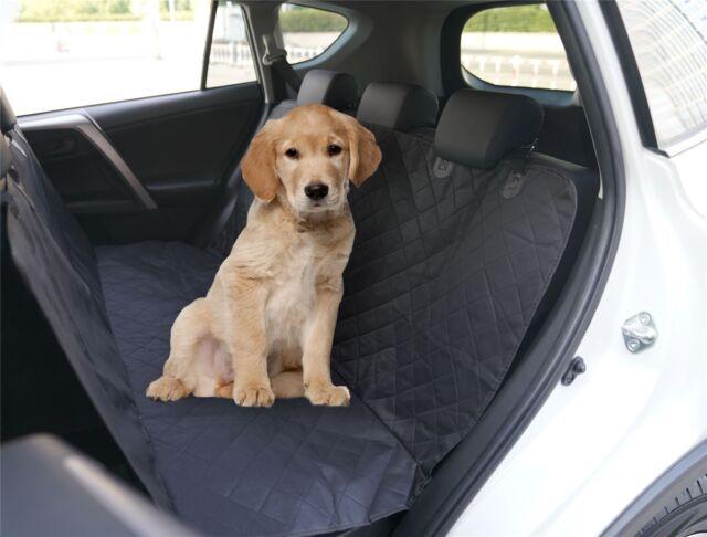 Vinsani Black Waterproof Car Rear Back Seat Boot Cover Pet Dog Protector Liner