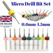 10Pcs 0.6-1.5mm PCB CNC Print Circuit Board Carbide Micro Drill Bits Set Hobby