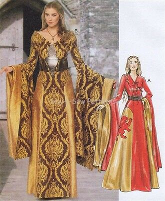 McCalls M6940 SEWING PATTERN 6-14 Game of Thrones Fantasy Cersei Costume Gown