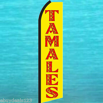 FIREWORKS Yellow Red  Flutter Flag Tall Vertical Feather Bow Swooper Banner Sign