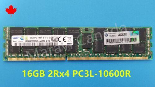 HP 16GB 2RX4 DDR3 PC3L-10600R RAM 628974-081 647653-081 DL380 DL580 G6 G7 G8
