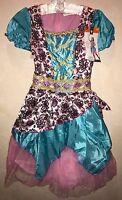Girls Fortune Teller Halloween Costume Dress Sparkles Coins Large 10/12