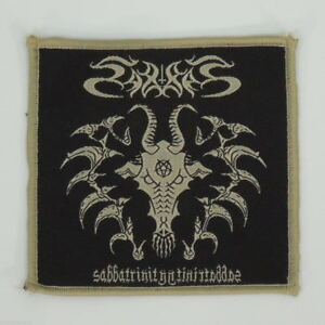 SABBAT-Sabbatrinity-Woven-Small-Patch-Black-Beige-R-I-P-Records-New