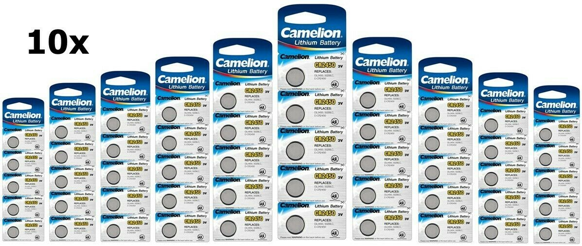 UK BS302-10x Camelion CR2450 3V lithium button cell battery 10x Blisters