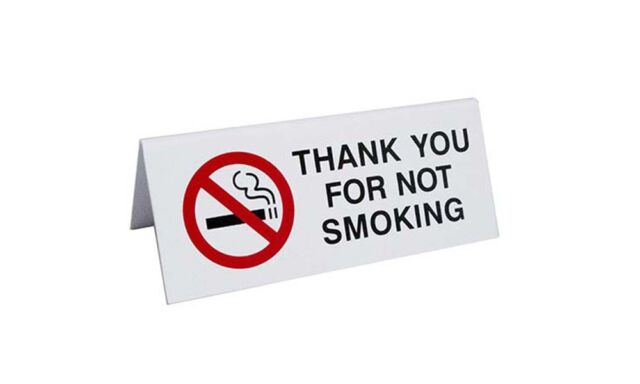 No Smoking Signs Table Tent Style Signs Per Pack Free - Table tent signs
