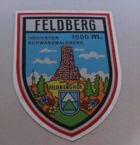 Reise-Aufkleber Feldberg Breisgau Black Forest Baden-Württemberg 80er
