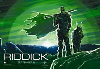 Riddick - 13.5x19.5 Original Promo Movie Poster Mint Midnight Imax Version