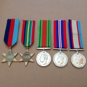 AUS-WWII-PACIFIC-STAR-MEDAL-GROUP-KOKODA-ANZAC-WORLD-WAR-II-ANTIQUE-TONE