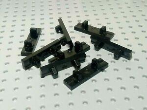 LEGO-Charniere-Verrouillage-Tuile-1x4-avec-simple-2-doigts-sur-Top-44822-x8-Noir
