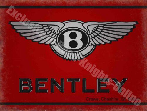 Bentley Motors 186 Vintage Garage Classic Car Advertising Large Metal Tin Sign