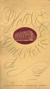 Vintage HOTEL D'ANGLETERRE Restaurant Menu COPENHAGEN DENMARK 1957
