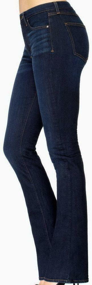 NWT new Spanx Rich Indigo The Slim-X Slim Boot Cut Jeans Size 26 dark wash