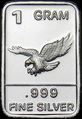 2019 Nieuwste Ontwerp Usa 1 Gram .999 Fine Silver Bar - American Eagle - New - Uncirculated