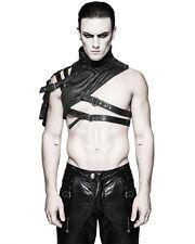 Punk Rave Mens Shoulder Armour Harness Black Faux Leather Gothic Dieselpunk
