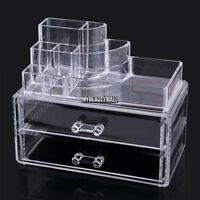 Cosmetic organizer makeup drawers Acrylic Display train Clear Cabinet Case