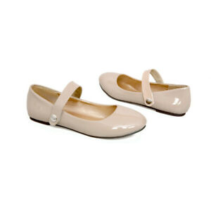New-Women-Work-Dress-Ankle-Strap-Classic-Ballet-Flats-Mary-Jane-Shoes-Comfort