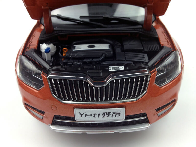 1 18 Shanghai Volkswagen Volkswagen Volkswagen Skoda Yeti City Edition orange Diecast Metal Model 4ebf7b