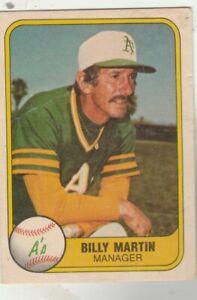 FREE-SHIPPING-FAIR-TO-POOR-1981-Fleer-581-Billy-Martin-AthleticS-BONUS-CARDS