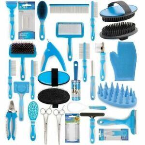 Ancol-Dog-Grooming-Range-Brush-Comb-Scissors-Rake-Nail-File-Clippers-Slicker