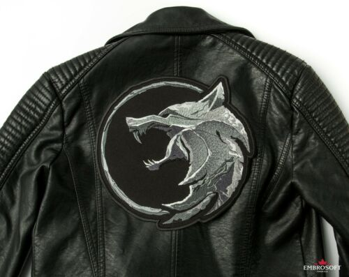 Head of Wolf Embroidered TV series and Game Emblem The Witcher Patch Logo