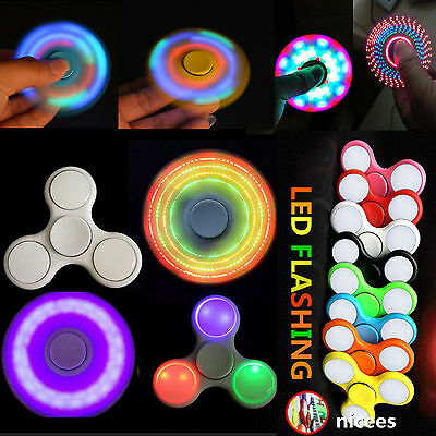 Fidget Finger Spinner Hand Focus Ultimate Spin Steel EDC Bearing Stress Toys LED