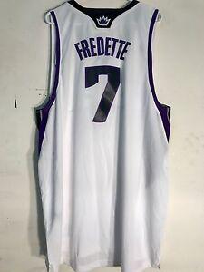 buy popular 8d1f3 0f791 Details about Adidas Swingman NBA Jersey Sacramento Kings Jimmer Fredette  White sz 2X