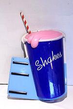 Mirro Art-Deco SHAKES Light Lighted Sign SUNDAES SODA POP SHOP Malt Advertising