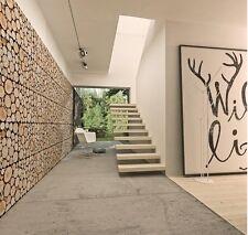 Wall Panels Wall Logs  Natural Wood 1 pack(2panels) Original Decorative !!!!!!