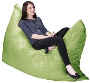 Image Is Loading 5 5 Ft Green Large Bean Bag Chair